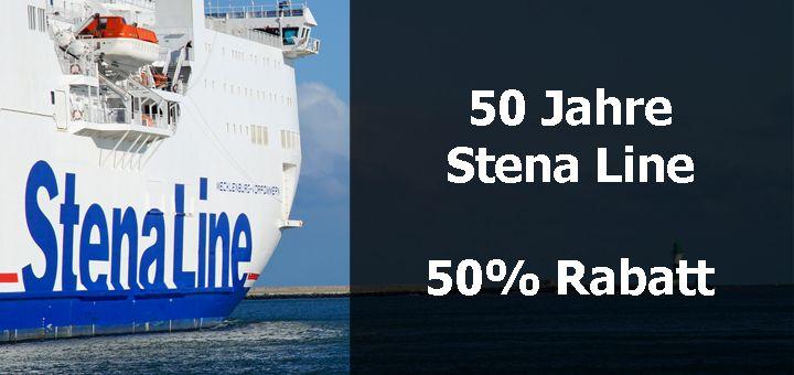 50 Jahre Stena Line - 50% Rabatt auf die Route Kiel-Göteborg zum Jubiläum.
