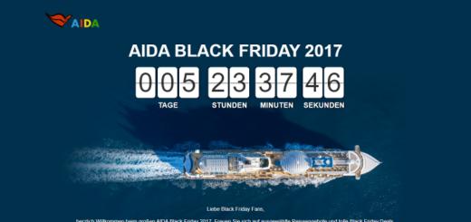 AIDA Black Friday 2017 Kreuzfahrt Angebote