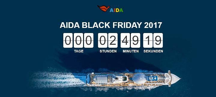 AIDA Black Friday 2017 Kreuzfahrten Countdown