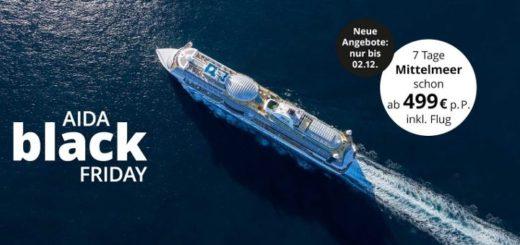 AIDA Black Friday 2019 Kreuzfahrt Angebote
