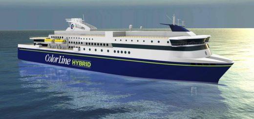 Ein Grafik der geplanten Hybridfähre MS Color Hybrid von Color Line.