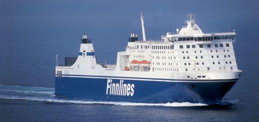 Die Finnlines Fähre auf dem Weg von Travemünde nach Helsinki.