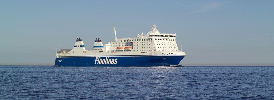 Ein Bild er Fähre Finnstar der Reederei Finnlines.