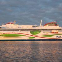 Die neue LNG Fähre Megastar von der Reederei Tallink Siljaline