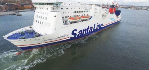 Die Fähre Stena Jutlandica wird zur Weihnachtszeit zur Santa Line.