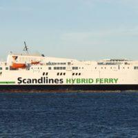 Die neue Scandlines Hybridfähre Copenhagen auf Probefahrt.