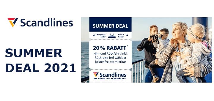 Scandlines Summer Deal mit 20% Rabatt